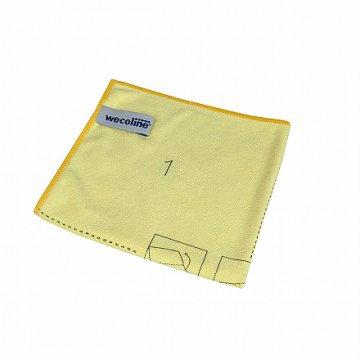 Wecoline utěrka z mikrovlákna s instrukcemi ke skládání (žlutá)