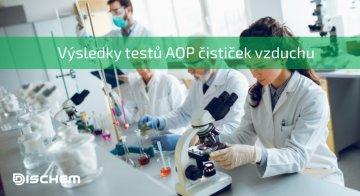 Výsledky testů AOP čističek vzduchu
