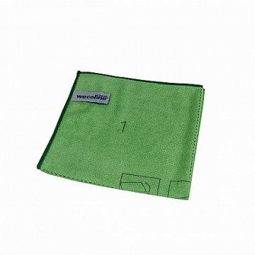 Wecoline utěrka z mikrovlákna s instrukcemi ke skládání (zelená)