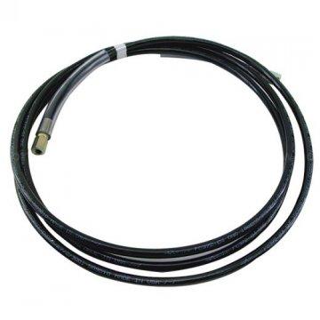 Černá neprůhledná PVC hadice, 3 vrstvá vyztužená vysokopevnostním PES vláknem (metráž)