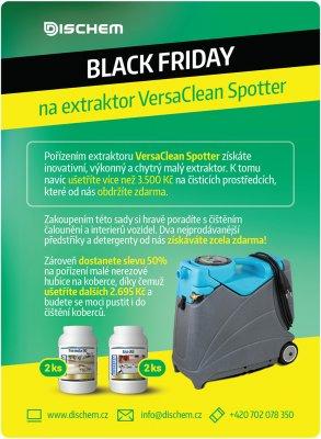 Black Friday na extraktor VersaClean Spotter