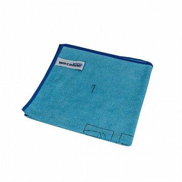 Wecoline utěrka z mikrovlákna s instrukcemi ke skládání (modrá)