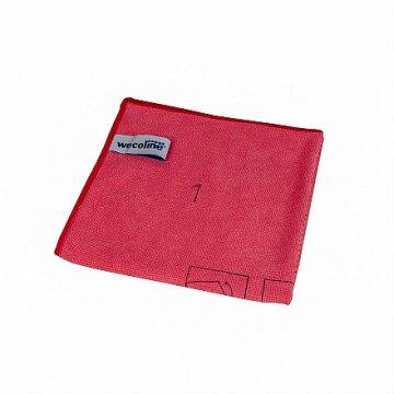 Wecoline utěrka z mikrovlákna s instrukcemi ke skládání (červená)