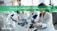 Výsledky testů AOP fotohydroionizačního čištění vzduchu